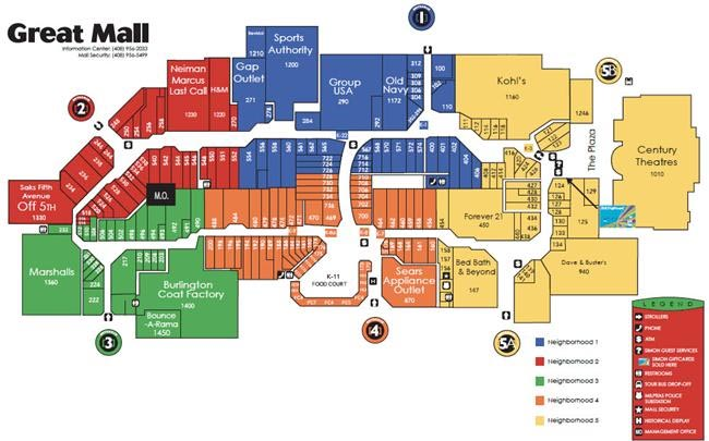 Great Mall Map